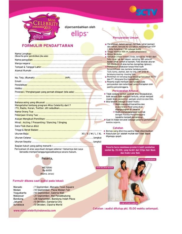 Form Pendaftaran MICEL 2013 A4 rev 002